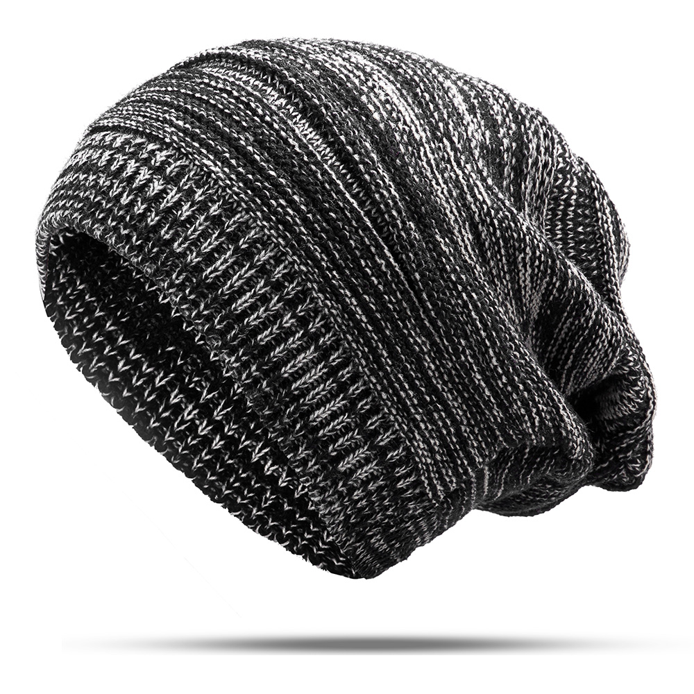 Fashion Winter Warm Knit Hat Outdoor Plus Size Plus Velvet Earmuffs Beanie Cap for Men Women