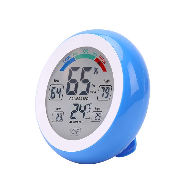 DANIU Multifunctional Digital Thermometer Hygrometer Temperature Humidity Meter Touch Screen Multicolor
