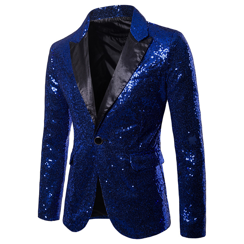 Mens Sequin Dress Suit Palace Wedding Banquet Club Stag