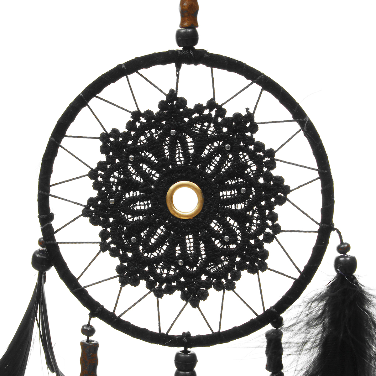 White Dream Catcher Circular With Feather Wall Hanging Decoration Decor Cr~9H