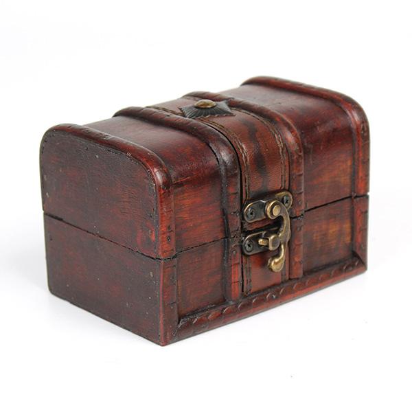 Vintage Wooden Jewelry Box Antique Storage Organizer Ca