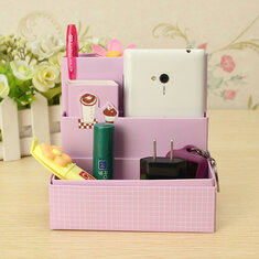 DIY Paper Board Storage Box Stationery Makeup Cosmetic Organizer