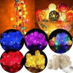 2.2M 20LED Rattan Christmas Wedding Ball String Lamp Fairy Lights