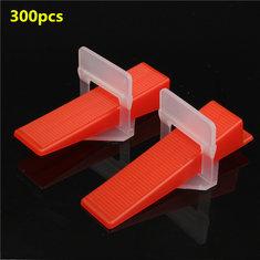 300Pcs Ceramic Tile Tiling Accessibility Spacer Clips/Wedges Plastic