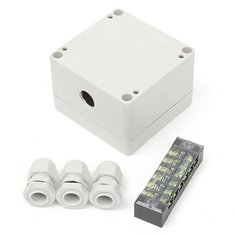 Waterproof Enclosure Electrical Junction Case PG9 Terminal Outdoor Cable Box