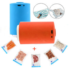 Portable Mini Automatic Electric Compression Vacuum Pump Food Storage Packing Wrapping Device + 5 Compressed Bags