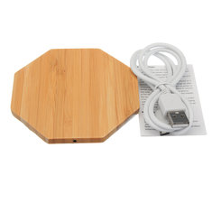 Wireless Charger Pad Qi Wooden Mat Charging Mini For Samsung S8 Plus iPhone 8 X