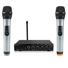 Archeer Portable bluetooth Wireless Microphone System VHF Dual HIFI Handheld Microphone