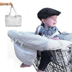 Baby Kids Shopping Cart Cushion Kids Trolley Pad Baby Shopping Push Cart Protection Cover Baby Chair Seat Mat with Safety Belt