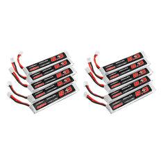 10Pcs URUAV 3.8V 300mAh 40/80C 1S HV 4.35V PH2.0 Lipo Battery for Eachine TRASHCAN Snapper6 7 8 US65