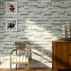 Brick Pattern 3D Textured Non-woven Wallpaper Sticker Background Home Decor Sticker