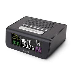Digoo DG-FR100 SmartSet Wireless Digital Alarm Clock Weather Forecast Sleep with FM Radio Clock