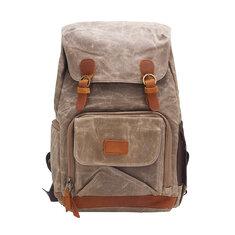 24L Outdoor Travel Vintage Waterproof Backpack Photography Camera DSLR Rucksack Shoulder Bag