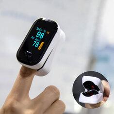 BOXYM oFit-2 Vinger-Klem Pulsoxymeter Vinger Bloed Zuurstof Saturometro Hart De Oximeter Draagbare Pulsoximetromonitor