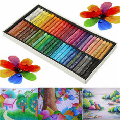 50 Colors Crayon Non-toxic Oil Pastels Drawing Pen Artists Mechanical Drawing Paint