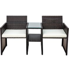 Wicker Patio Furniture Set Rattan Chair Coffee Table Fishing Chair Soft Sofa With Cushions
