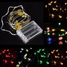 2M 18 LED Battery Powered Santa Claus String Fairy Light For Xmas Party Weddinng Decor