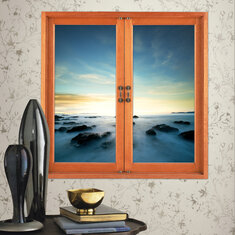 Fairyland 3D Artificial Window View 3D Wall Decals Room Stickers Home Wall Decor Gift Aurora
