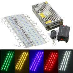 40PCS 5 Colors SMD5050 LED Module Store Strip Light Front Window Lamp + Power Supply + Remote DC12V