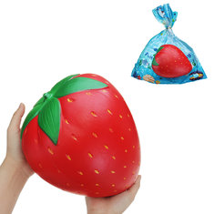 Giant Strawberry Squishy 25*20CM Huge Fruit Slow Rising Soft Toy Gift Collection With Packaging