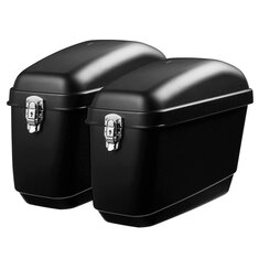 Pair 30L Side Luggage Case Hard Trunk Saddle Bags Motorcycle Panniers Box Cruiser Universal