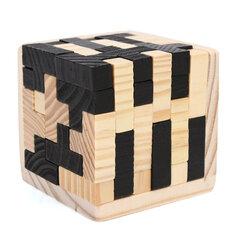 54Pcs Wood Magic Intelligence Game 3D Wood Puzzle Brain Teaser Magic Tetris Cube