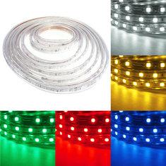 Waterproof IP67 5M 300SMD 5050 Red/Blue/Green/Warm White/White/RGB LED Light Strip 220V