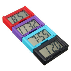 4 Colors Automotive Digital Car LCD Clock Self-Adhesive Stick On Time Portable