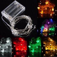 2M 20 LED Battery Powered Snowman String Fairy Light For Christmas Party Weddinng Decor