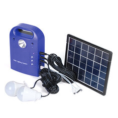 28Wh Portable Small DC Solar Panels Charging Generator Power Generation System With LED Bulb