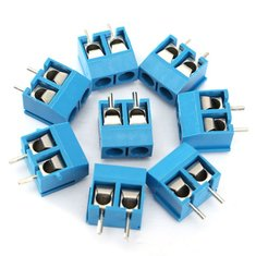 200pcs 2 Pin Plug-In Screw Terminal Block Connector 5.08mm Pitch