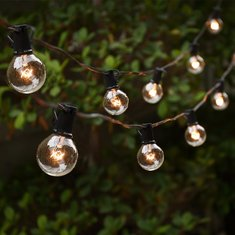 ARILUX® 25ft String HoliDay Light with G40 E12 Globe Clear Bulb for Backyard Patio Christmas Decor
