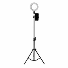 16cm LED Video Ring Light 5500K Dimmable with 160cm Adjustable Light Stand