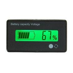 12V / 24V / 36V / 48V 8-70V LCD Литиевая батарея кислотного свинеца Индикатор емкости Цифровой вольтметр