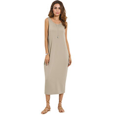 Sexy Backless Sleeveless Stretch Maxi Dress For Women
