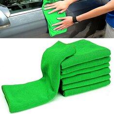 10pcs Soft Cleaning Cloth Green Micro Fiber Car Care Duster Towel 29x29cm