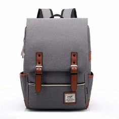 14inch Laptop Unisex Canvas Classic Laptop Backpacks