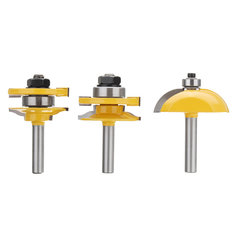3pcs 8mm Shank Raised Panel Cabinet Door Router Bit Set Woodworking Cutter Tool Kit