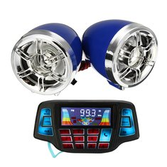 Motorcycle LCD Screen MP3 Speakers Handlebar Audio USB SD FM with bluetooth Function