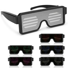 8 Modles LED Party Glasses Goggles Futuristic Eyes Shield Flat Top Shape Frame Mirrored 5 Colors