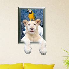 Polar Bear 3D Wall Decals PAG STICKER Removable Wall Art Animal Stickers Home Decor Gift