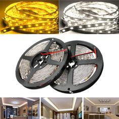 5M SMD5050 300 LED White/Warm White Non-Waterproof Flexible Tape Strip Light Lamp DC12V