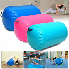 39.37x33.5inch Airtrack Fitness Inflatable Air Roller Home Small Gymnastic Cylinder GYM Gymnastics Mat Beam