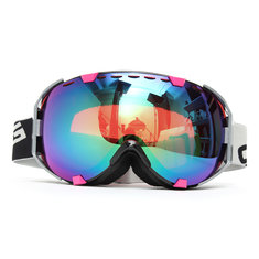 Motorcycle Snowboard Ski Goggles Unisex Spherical Anti Fog Dual Lens Outdooors Glasses