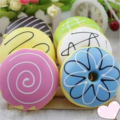 9CM Random Squishy Simulation French Donuts Slow Rising Squishy Fun Toys Decoration