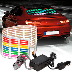 45cm*11cm Flash Car Sticker Music Rhythm LED Sheet Light Lamp