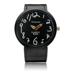 Fashion Style PU Leather Band Pencil Analog Wrist Watch