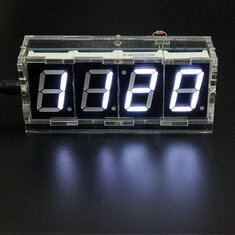 Geekcreit DIY 4 Digit LED Electronic Clock Kit Temperature Light Control Version