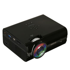 Uhappy U45 LCD LED Projector 2000 Lumens 800 x 480 Resolution Support 1080P Office Home Cinema