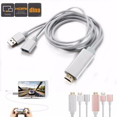 3 In 1 HDMI 1080P HD Cable Dongle Lightning/USB/TYPE-C Adapter For Android IOS